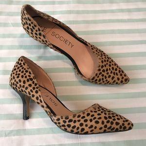 Sole Society Cheetah Dot Print Jenn Heels